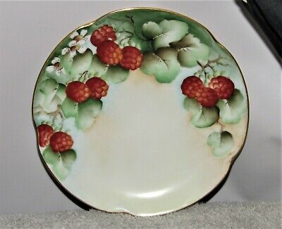 $8 • Buy Antique J & C Louise Bavaria Germany 6 1/3  Raspberry Fruit Plate 1898 - 1923