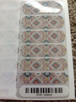 AU5.50 • Buy RARE Sedona Neutral Geometric Jamberry Nail Wraps Manicure New!! Nail Art
