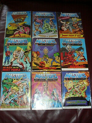 $45 • Buy Masters Of The Universe MOTU He-Man Mini Comic Lot Of 9 Good To Very Good #2