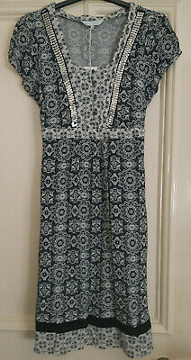 Debenhams Rocha John Rocha-Moss Crepe,Hand Embellished Tea Dress, Size 14, BNWT • 19.99£