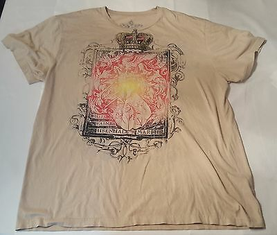 $9 • Buy Vice Graphic Of A Crown And Dyed Design T-Shirt, Brown, XL