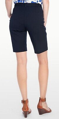$19.99 • Buy Not Your Daughters Jeans NYDJ Tummy Tuck Navy Blue Bermuda Shorts Size 4