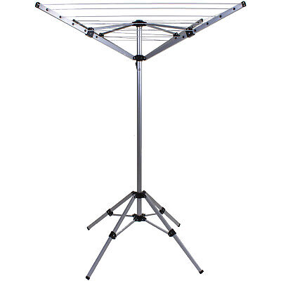 4 Arm Rotary Clothes Airer Freestanding Washing Line Portable Aluminium Camping • 26.99£