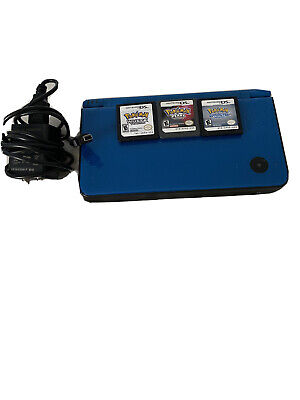$56 • Buy Nintendo DSi XL Launch Edition Blue  With Pokemon Video Games And Charger