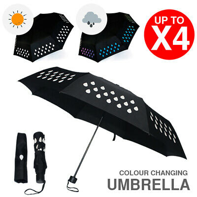 AU13.81 • Buy Colour Changing Umbrella Color Assorted Design Weather Proof Rain Travel Ready