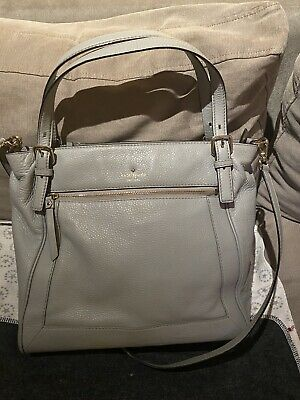 AU70 • Buy Classic Kate Spade Pale Grey Leather Shoulder Cross Body Bag  - Great Condition