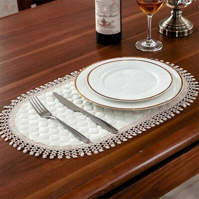Dining Table Mat Placemats Embroidery Flower Lace Placemat Cup Mat Coasters SH • 2.93£