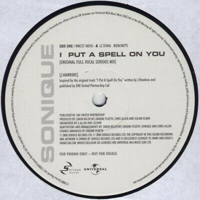 Sonique - I Put A Spell On You (12 , Promo) • 13.49£
