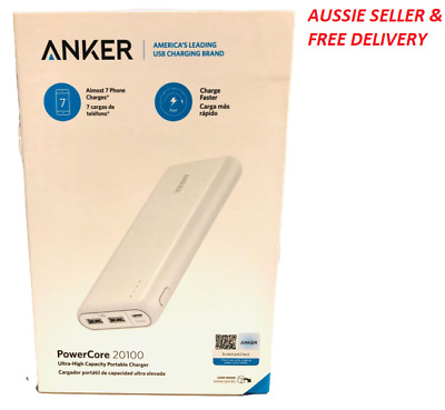 AU89.99 • Buy Portable Charger Anker PowerCore 20100mAh - Ultra High Capacity Power Bank