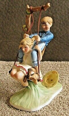 $ CDN53.32 • Buy Norman Rockwell First Gorham Collectors Society Figurine Flying High 1949 GCS2