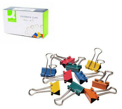 Assorted Colour Fold Back Clips Paper Clips Bulldog Clips 19mm, 24mm, 32mm • 3.39£