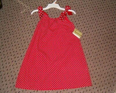 $27.99 • Buy 6X Boutique Red Polka Dot Sundress Dress Great To Monogram NWT!