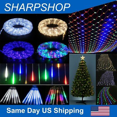 $28.86 • Buy LED Rope/Net/Meteor Light Landscape Xmas Party Indoor/Outdoor Decor Lighting