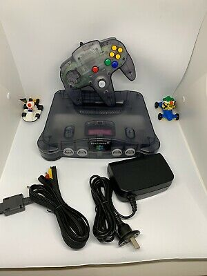 AU449 • Buy Limited Edition Nintendo 64 Console Smoke Grey Complete Mint