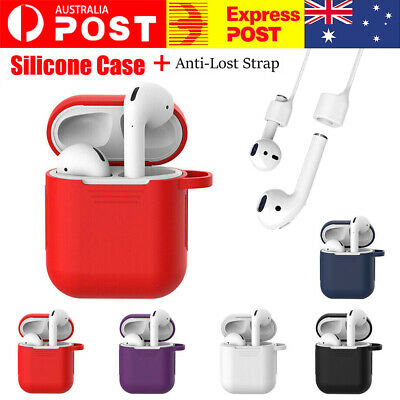 AU3.98 • Buy For Apple Airpods Case Cover Skin Anti Lost Strap Airpod Case Shockproof Holder