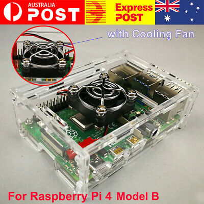 AU10.96 • Buy For Raspberry Pi 4 Model B Protector Box 9 Layer Acrylic Case With Cooling Fan
