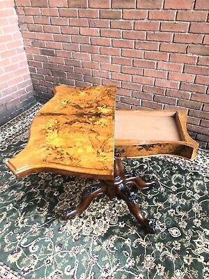 Beautiful Victorian Rosewood & Fine Floral Marquetry Inlaid Card Table • 1,250£