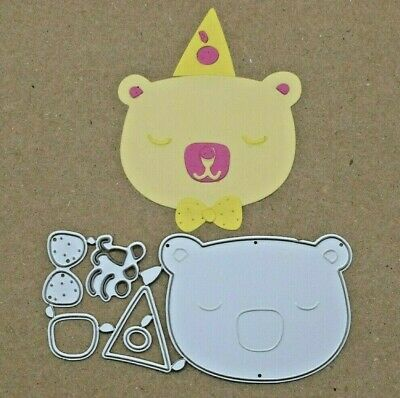 Quality Metal Cutting Die, Bear With A Bow Tie Kit, Card Making, Scrapbooking A1 • 3.05£