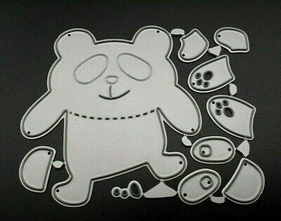 Panda Metal Cutting Die Kit, Card Making, Scrapbooking, UK Seller, Fast Post, A1 • 3.50£