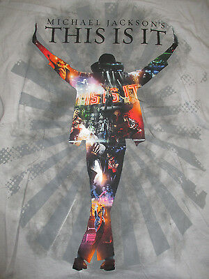 MICHAEL JACKSON's  THIS IS IT  (LG) T-Shirt THRILLER Smooth Criminal BEAT IT • 18.24£