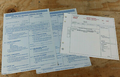 $14.95 • Buy AMC Javelin Pacer Gremlin Hornet ++ 3 NOS New Car Invoice 2 Pre-delivery Service