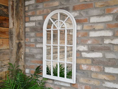 £75 • Buy Large Arch Wall Mirror Beautiful Vintage White Gothic Style Large Wall Mirror