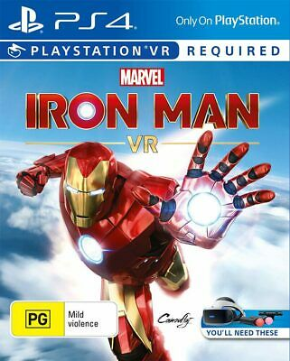 AU55.95 • Buy Marvels Iron Man VR PlayStation VR, PS4 Game NEW