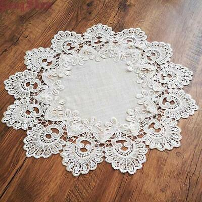 Handmade Crochet Round Lace Placemats Dining Table Mats Pad Doilies SH • 3.62£