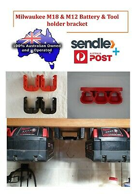 AU22 • Buy Milwaukee M18 & M12 Battery & Tool Holder Bracket.
