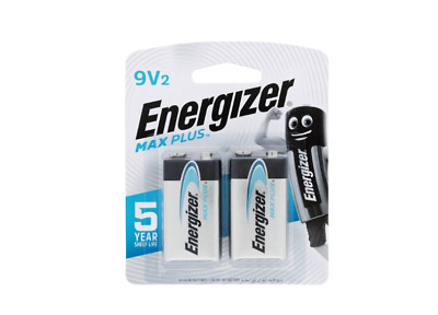 AU10.98 • Buy Energizer Max Plus 9v Batteries 2 Pack   New & Sealed
