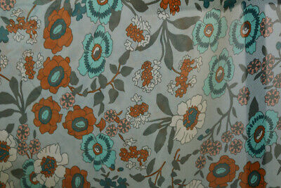 £4.49 • Buy Beautiful Washed Vintage Garden Floral Print Chiffon Dress Fabric Material