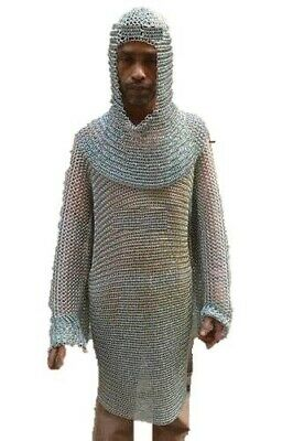 $45.99 • Buy NEW YEAR   Knight Costume 10 Mm Butted Hood 20   Adult Size Medieval Coif LARP