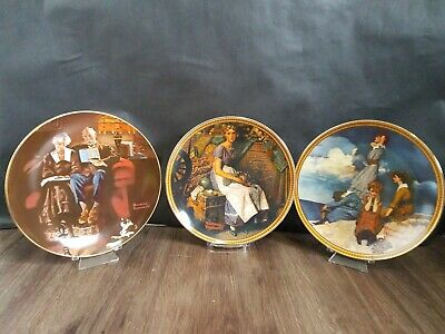 $ CDN19.99 • Buy Lot Of 3 - Norman Rockwell Plates By Knowles - Numbered Limited Edition