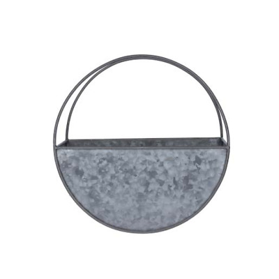 Small Galvanized Wall Planter Circular 30 Cm By Gisela Graham • 24.50£
