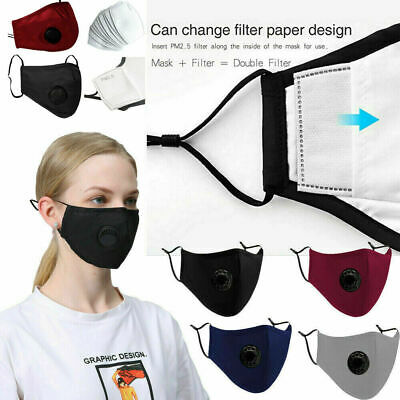 $ CDN8.99 • Buy Cotton Cloth Washable Reusable Face Mask PM 2.5- Carbon Filter Mouth Mask