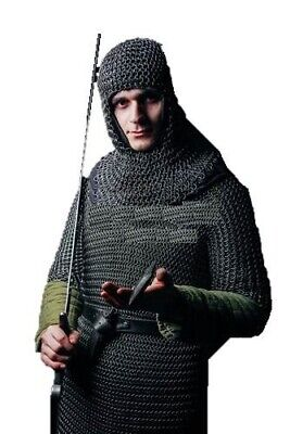 $48.89 • Buy HALLOWEEN Chainmail Armor Costume Butted Steel  Medieval Hood  Movie 8 Mm Butted