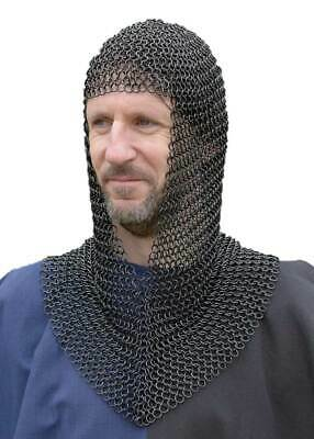 $46.52 • Buy HALLOWEEN New Chainmail Armor Costume Round Neck 20 Inch 8mm Butted 16 SWG Armor