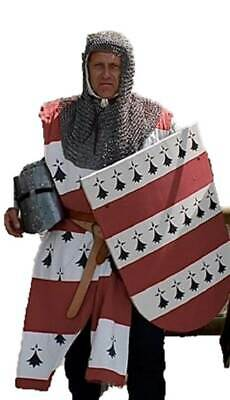 $45.95 • Buy HALLOWEEN Chainmail Round Butted 8 Mm Armor Costume Steel Oil Finished Hood
