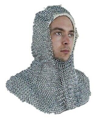 $45.99 • Buy Knight Chainmail Costume 10 Mm Butted 20 Inch Adult Size Medieval Coif