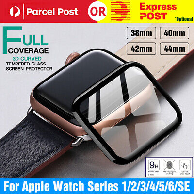 AU4.99 • Buy For Apple Watch Series 5/4/3/2/1 Tempered Glass Screen Protector 38/42/40/44mm