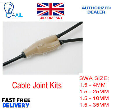 £21.99 • Buy Cable Branch Joint Kits 1.5-4/10/25/35mm Resin Underground SWA Armoured Cable UK