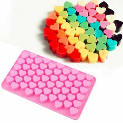 Wax Candle 55 Ice Pink UK Melts Mold Chocolate Jelly Mould Mini Silicone Hearts • 2.29£