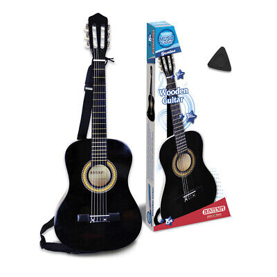 Bontempi 3/4 Size Six String Black Acoustic Guitar With Strap For Children • 52.49£