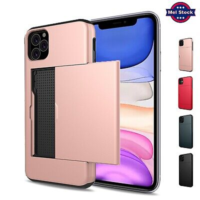 AU8.85 • Buy For IPhone 11 Max Pro SE 2020 8 7 Plus Case Wallet Card Holder Shockproof Cover