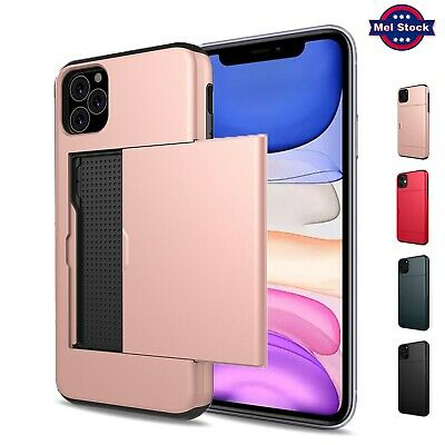 AU8.85 • Buy For IPhone 12 Mini 11 Pro Max SE 8 7 Plus Wallet Case Shockproof Card Holder