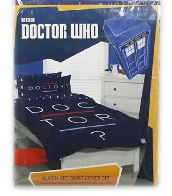 £32.49 • Buy NEW Official Licensed Dr Who Queen Size Bed Quilt Cover Set