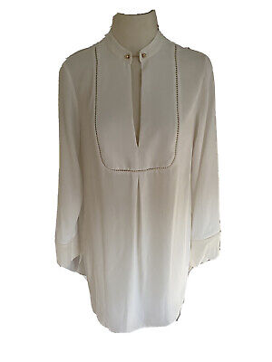 AU39 • Buy Zimmerman Stunning Top With Gold Pin Detail At Neck Size 1 Excellent Condition