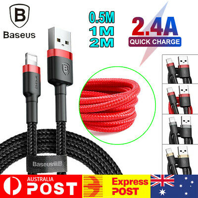 AU7.99 • Buy Baseus 2.4A Fast Charging 8 Pin Data Sync Cable Cord For IPhone 6/7/8 X/XS Max