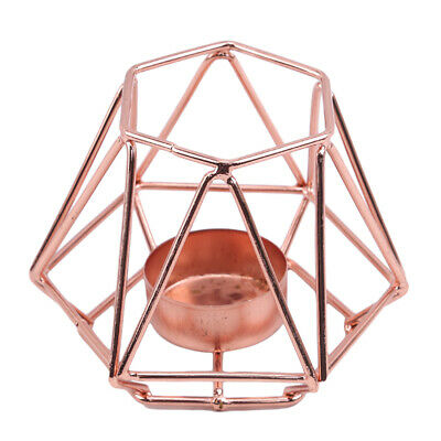 Retro Style Geometric Wire Light Candle Holder Lantern Wedding Candlestick SH • 5.34£