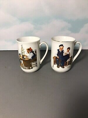 $ CDN15.82 • Buy Norman Rockwell Museum Coffee Mugs Set Of Two (2)- 1982